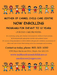 daycare mother of carmel day care flyer 2013 now enrolling day care pamphlet2 pamphlet1