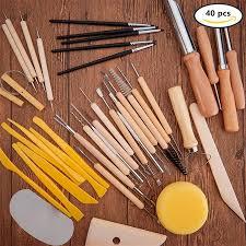 BENECREAT <b>40PCS Clay</b> Sculpting Tools <b>Pottery</b> Carving Tool Set ...