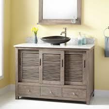 arrey teak vanity semi quot arrey teak vessel sink vanity gray wash