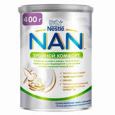 БЗМЖ <b>Молочная смесь Nan Тройной</b> комфорт с рождения 400г