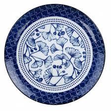 <b>Тарелка</b> обеденная <b>Flora Japonica 26</b> см фарфор, цвет синий ...