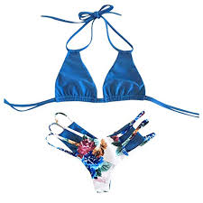 URIBAKE <b>2019 Women Floral</b> Print Bikini Set Bandage <b>Push</b>-<b>Up</b> ...