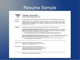 how to write a resume for cna job