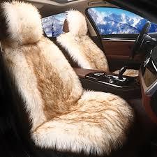 cover <b>KKYSYELVA 1pcs</b> Winter Plush cover Auto Cushion Mat ...