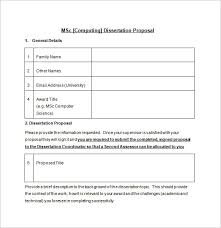 This MSC dissertation proposal template with its layout comprising of tables and different points will elucidate the key factors of the thesis and will make