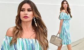 Sofia Vergara teams $35 <b>summer dress</b> with $22,000 Hermes Birkin ...