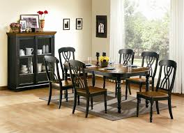 black dining room table stylish chairs for tables the black wood dining room