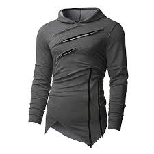 2019 New Design <b>Hoodie</b> Ripped Holes <b>Men</b> Punk <b>Fashion</b> ...
