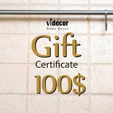 electronic gift certificate for videcor on 50 usd gift e electronic gift certificate for videcor on 100 usd gift e card