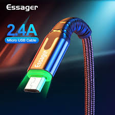 <b>Essager LED</b> Micro USB Cable 2.4A Fast Charging Data Cord <b>3M</b> ...