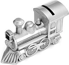 Mogokoyo Metal Money Bank, <b>Cute Train</b> Piggy Bank Silver Penny ...