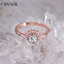 <b>CANNER</b> 2019 <b>Flower CZ</b> Stone Wedding Rings for Women Jewelry ...