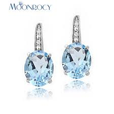 MOONROCY Silver Color Crystal Earrings Dangle Wholesale ...