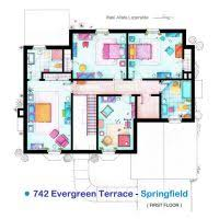TV Floorplans by nikneuk on DeviantArtHouse of Simpson family   First Floor by nikneuk
