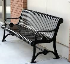 black iron bench like the curves black iron outdoor furniture