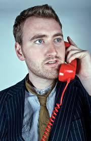 ... Michael Clough Portfolio: 'The Red Telephone' portrait shot of man on old fashoined - Michael-Clough-Portfolio--003