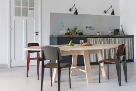 quality small dining table designs furniture dut: interior designer christen starkenburgs interieur plus workspace curtained kitchen at jan de jong