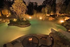 view in gallery garden water feature lighting with mist beautiful lighting
