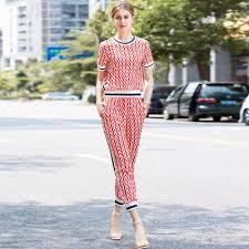 Women <b>New</b> 2019 Summer T-shirt+Pants Female Suits <b>2</b>/<b>PCS</b> ...
