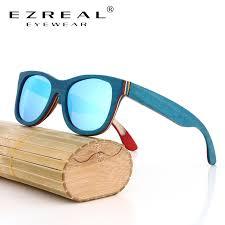 EZREAL Brand Designer <b>wood Sunglasses New</b> men Polarized ...