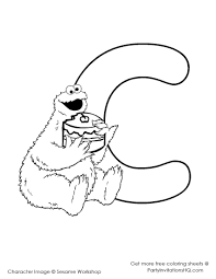Small Picture Sesame Street C Is For Cookie Coloring Coloring Pages