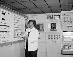 mary jackson biography nasa black and white photo of mary jackson in front of computers