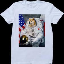 <b>New Fashion</b> Brand T Shirt <b>Fashion</b> Doge Astronaut <b>Funny</b> Men ...
