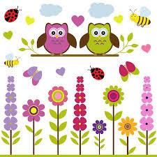Vector Set Of Spring Theme. Spring <b>Trees</b>, <b>Flowers</b>, Butterflies ...