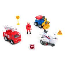 <b>Набор</b> машин <b>BONNA</b> 558A2 самолет, пожарная машина, паровоз