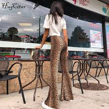 Hugcitar high waist leopard print flare leggings 2018 <b>autumn winter</b> ...