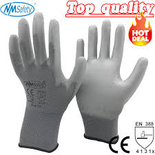 <b>NMSafety</b> 12 Pairs <b>work gloves</b> for PU palm coating <b>safety glove</b>-in ...