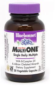Bluebonnet Nutrition <b>MultiONE</b>® <b>Single Daily</b> Multiple Iron Free -- 30 ...