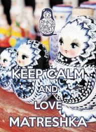 <b>KEEP CALM and love</b> Matreshka - postcard