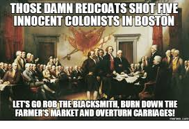 「Redcoats tossing colonists」の画像検索結果
