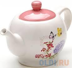 <b>Чайник заварочный Loraine</b> LR-25637 0.95 л керамика белый ...