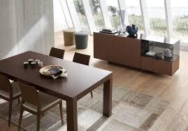 italian lacquer dining room furniture. matte walnut finish italian design 5 piece dining room lacquer furniture