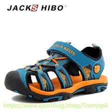 JACKSHIBO Kid Sandals Summer Beach Boy Sandals for ... - Qoo10