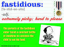Images & Illustrations of fastidious