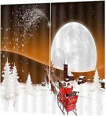 170cm*200cm <b>Christmas</b> Home Hotel <b>Printed Decorative</b> Curtains ...