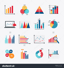 business data market elements dot bar pie charts diagrams and        charts diagrams and graphs flat icons set isolated vector preview  save to a lightbox