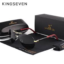 KINGSEVEN <b>Men Vintage</b> Aluminum <b>Polarized Sunglasses Classic</b> ...
