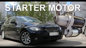 How to change BMW E90 3 series Starter Motor DIY replacement ...
