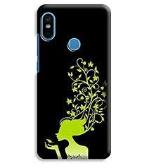 Printvisa <b>Lady Green</b> Black Leaf Girl Designer Printed: Amazon.in ...