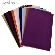 Lychee 29x21cm A4 Self Adhesive Velvet Fabric <b>High Quality Solid</b> ...