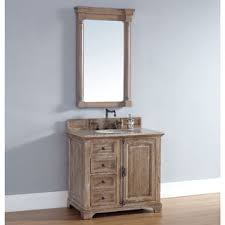 country themed reclaimed wood bathroom storage: james martin furniture driftwood single  inch bath vanity cabinet