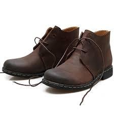 <b>Men's British style</b> Vintage <b>Fashion Leather</b> Boots Casual Plus-size ...