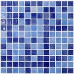 <b>Мозаика Vidrepur Mixed</b> 110/508 (317х396) на сцепке, синий микс ...