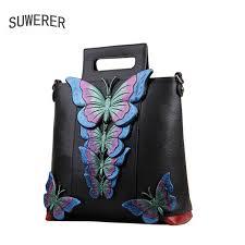 SUWERER women Genuine Leather bags for women <b>2018 new</b> ...