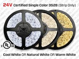 24V <b>5m</b> iP20 3528 White <b>LED</b> Strip - <b>120 LEDs</b>/<b>m</b> (Strip Only) - <b>LED</b> ...