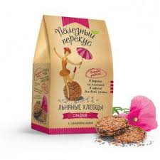 <b>Хлебцы льняные Organic Life</b> Полезный перекус сладкие с маком ...